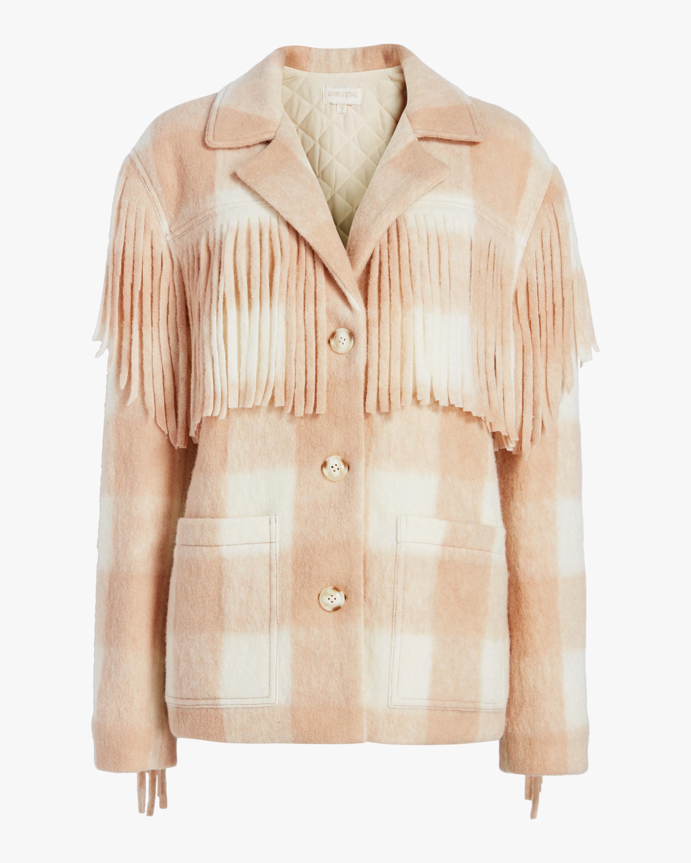 Single-Breasted Fringe Jacket
