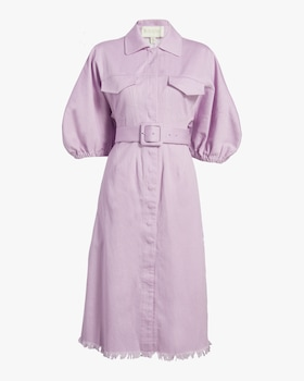 Bell-Sleeve Shirt Dress