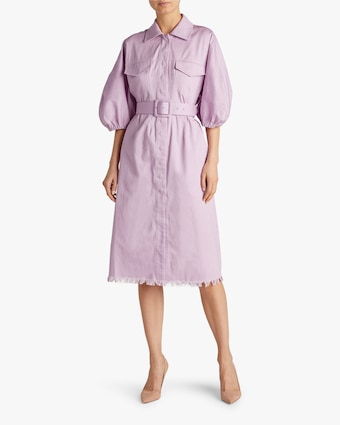 Divine Heritage Bell-Sleeve Shirt Dress 2