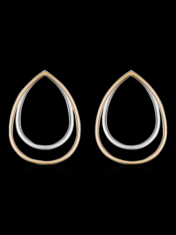 Sophia Tre Tone Earrings