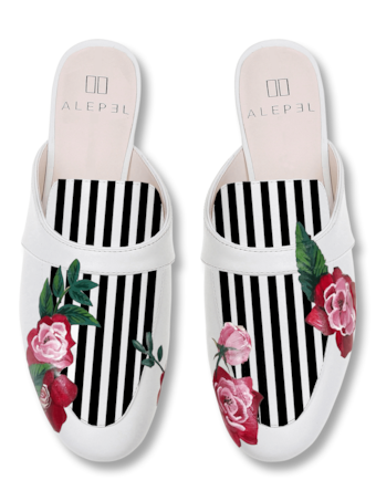 Rose Stripe Mules