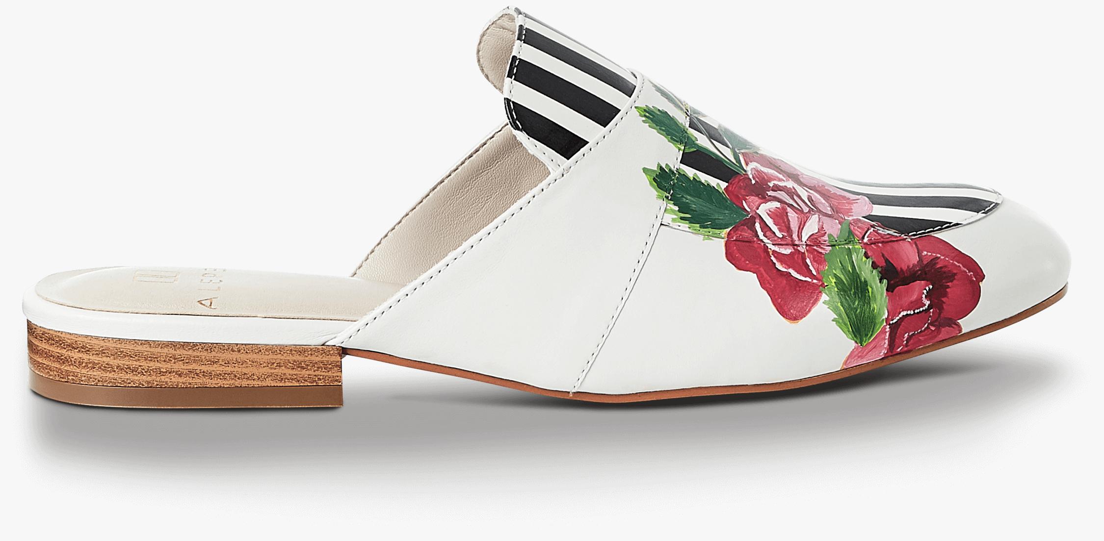 Rose Stripe Mules