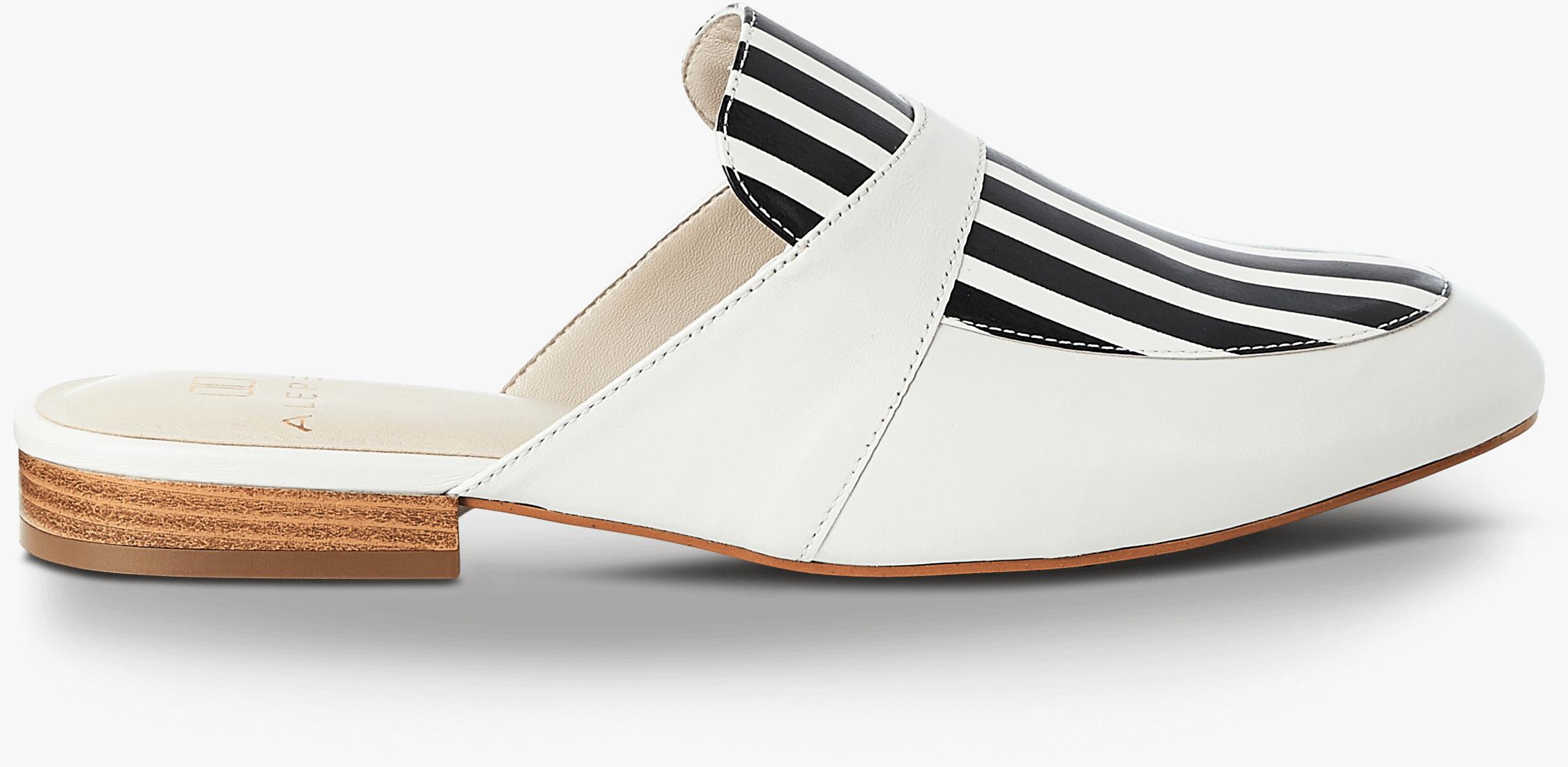 Stripe Mules