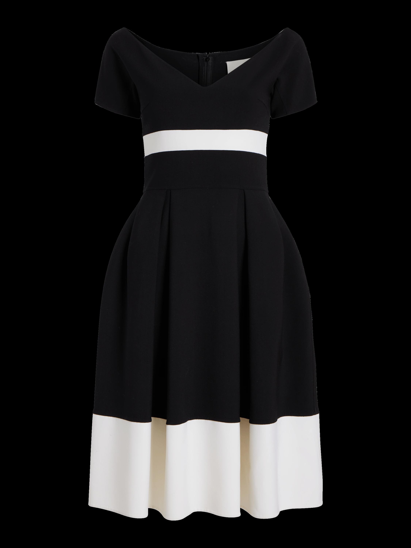 Bicolor A-line Dress