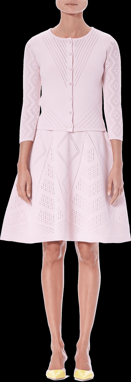 V-neck Pointelle Knit Dress