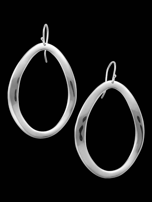 925 Classico Wavy Open Oval Earrings