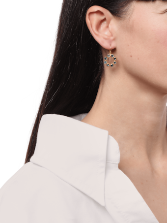 Pointelle Hue Single Drop Earrings