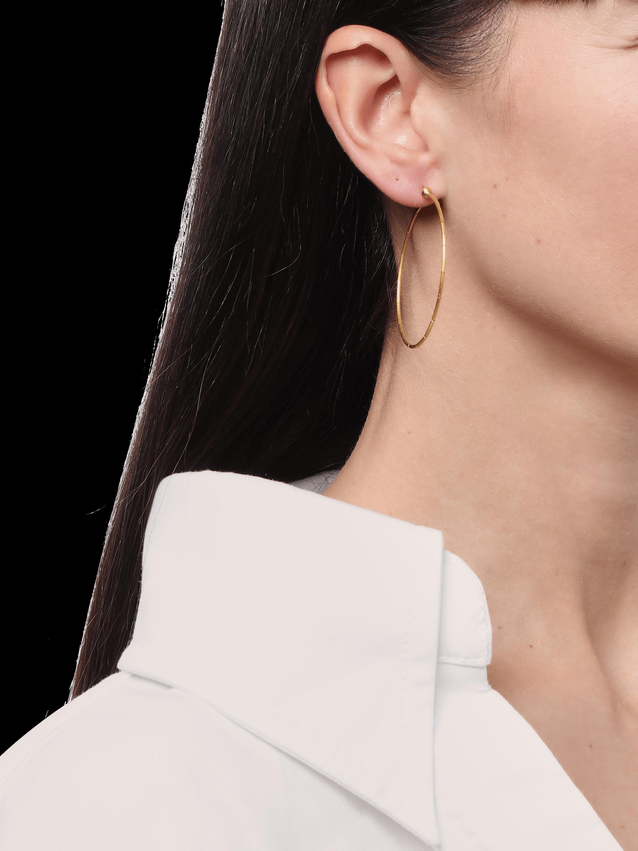 Large Delicate Rain Hoop Earrings