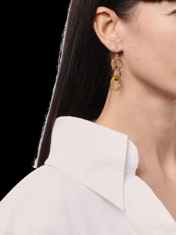Triple Drop Mango Link Earrings