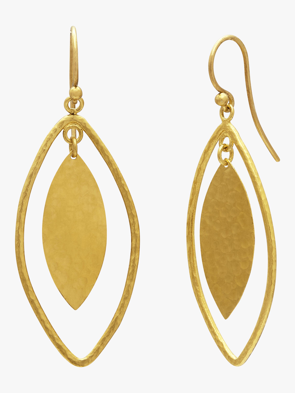 Long Drop Willo Geo Marquise Earrings