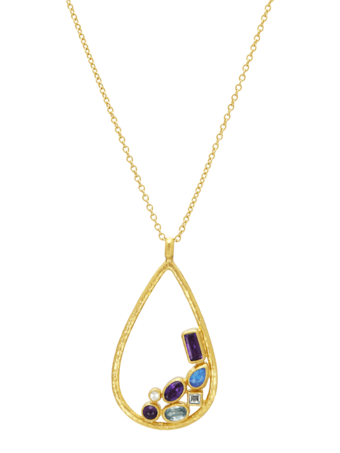 Pointelle Hue Pendant Necklace