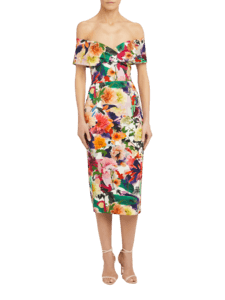 Delfina Column Gown