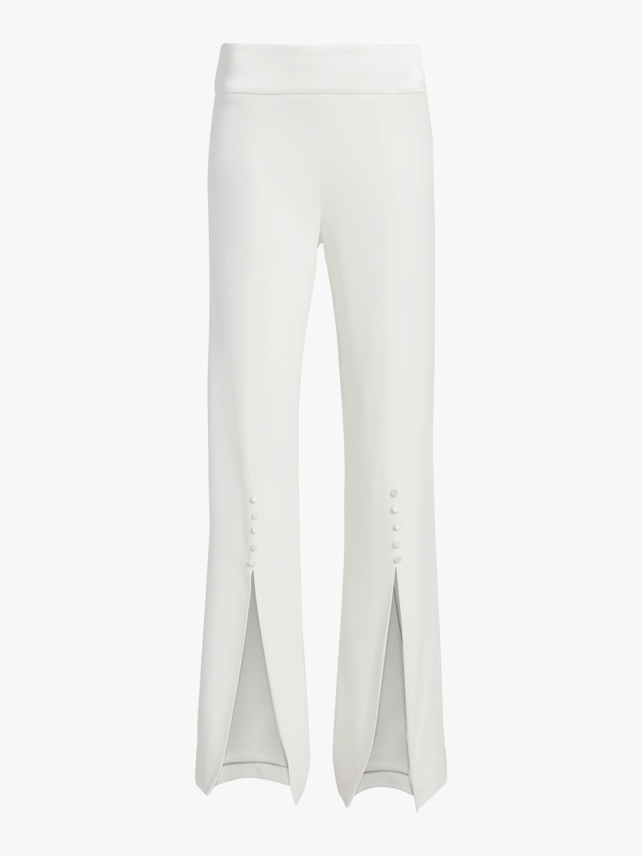 Deconstructed Satin Crepe Front Slit Pant