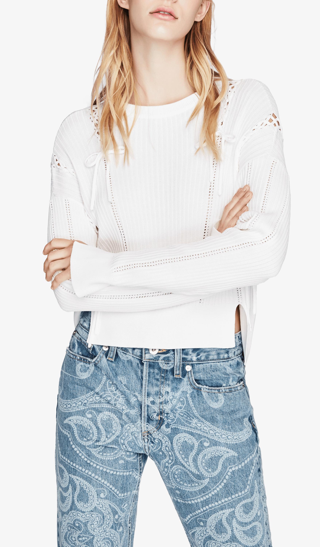 Linked Rib Long Sleeve Sweater