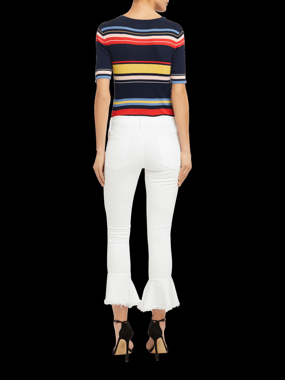Le Skinny De Jeanne Flounce Raw Edge Jeans Frame