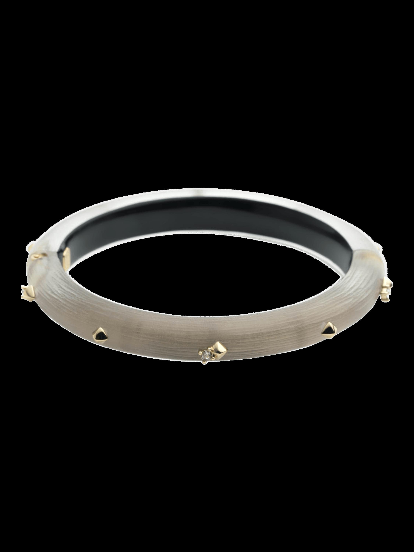 Golden Studded Hinge Bracelet