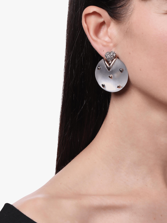 Heart Stud Post Earrings Alexis Bittar