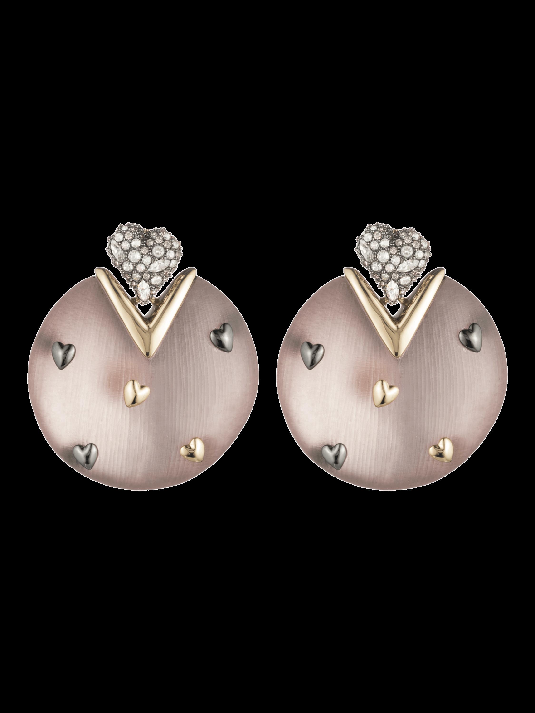 Heart Stud Post Earrings