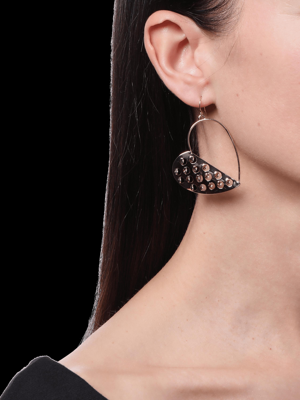 Half Heart Grater Wire Earrings