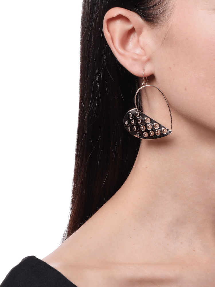 Half Heart Grater Wire Earrings Alexis Bittar