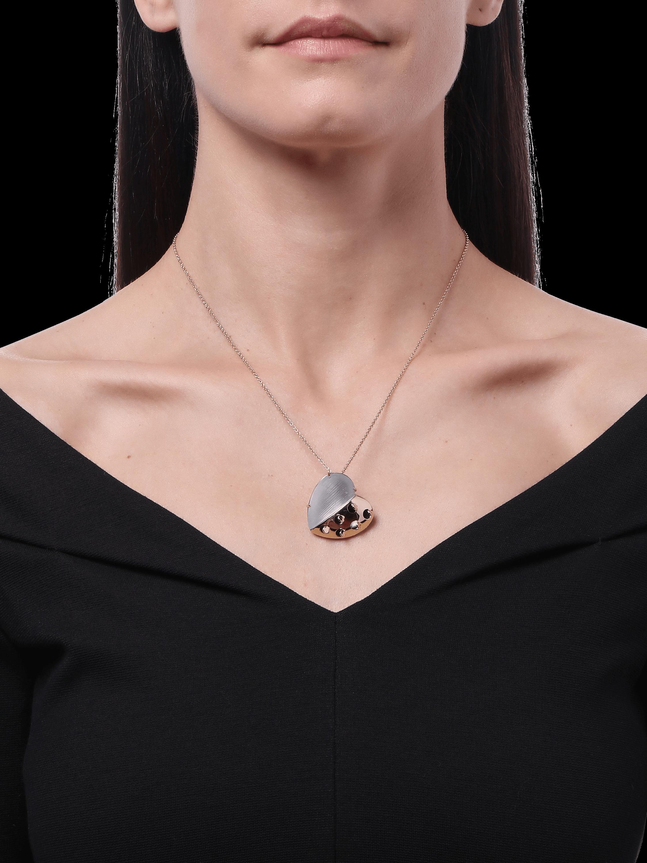 Petite Grater Heart Pendant Necklace
