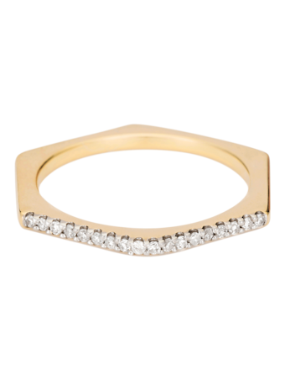 Pavé Hexagon Ring