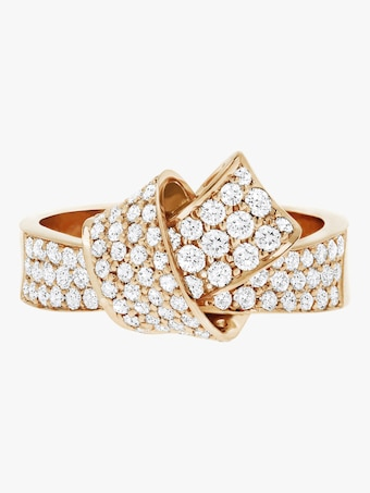 Carelle Knot Pavé Diamond Ring 2