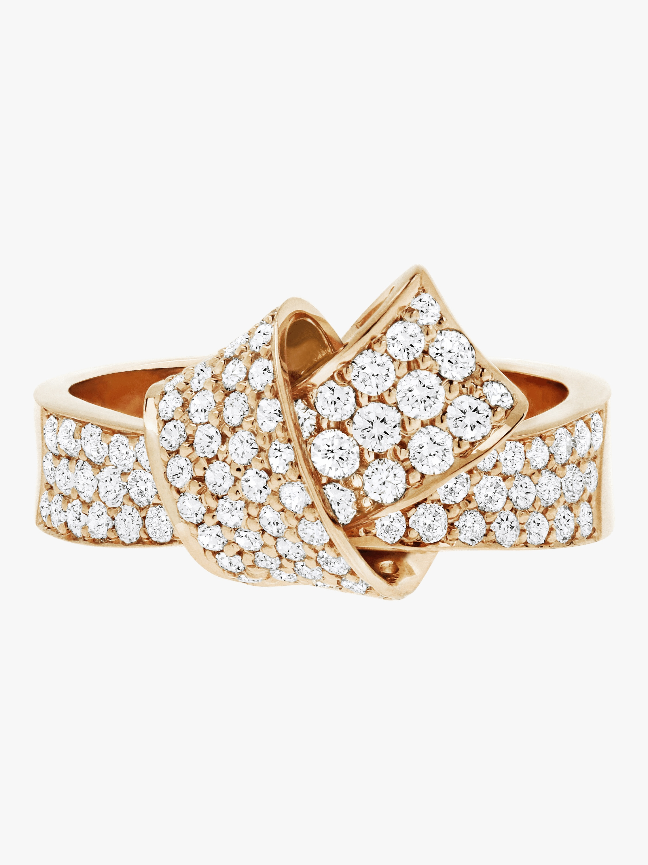 Carelle Knot Pavé Diamond Ring 2