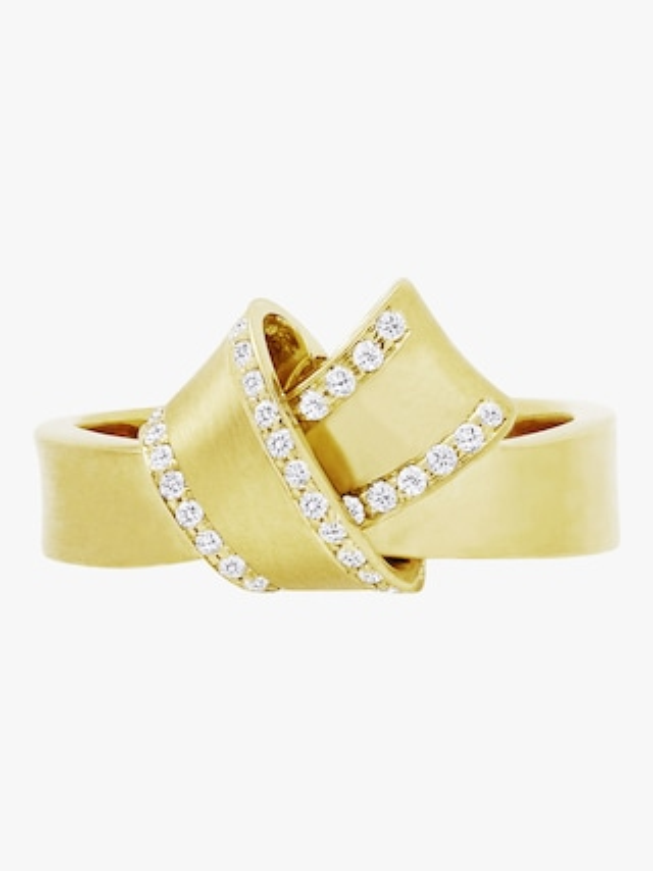 Carelle Knot Diamond Trim Ring 2