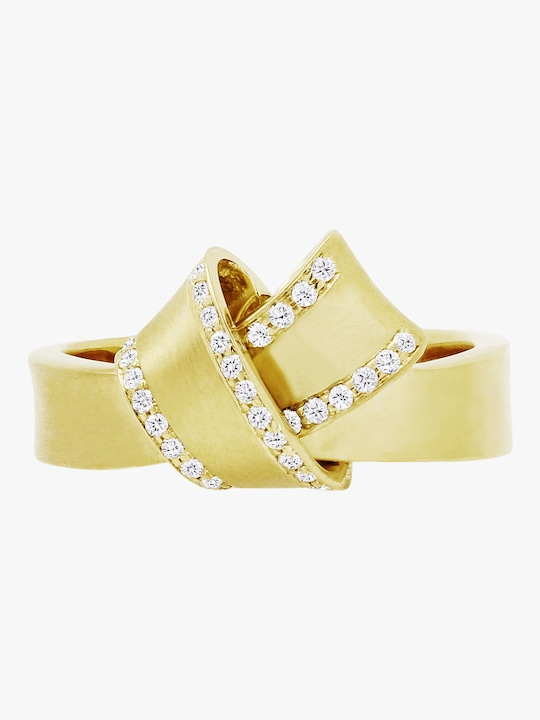 Carelle Knot Diamond Trim Ring 0