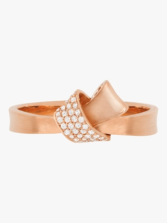 Carelle Mini Knot Pavé Diamond Ring 2