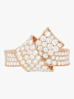 Carelle Jumbo Knot Pavé Diamond Ring 0