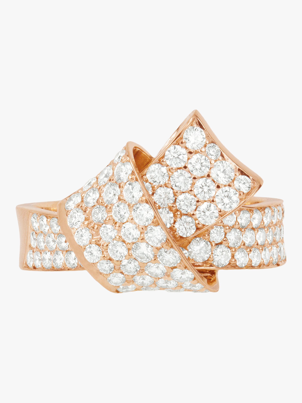 Jumbo Knot Pavé Diamond Ring