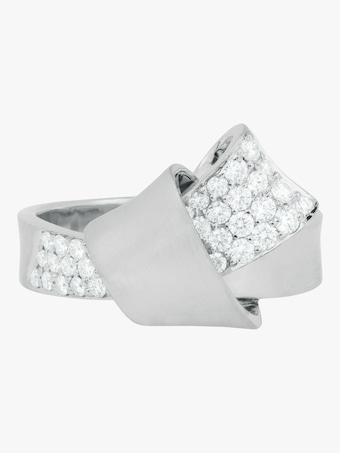 Jumbo Knot Diamond Ring