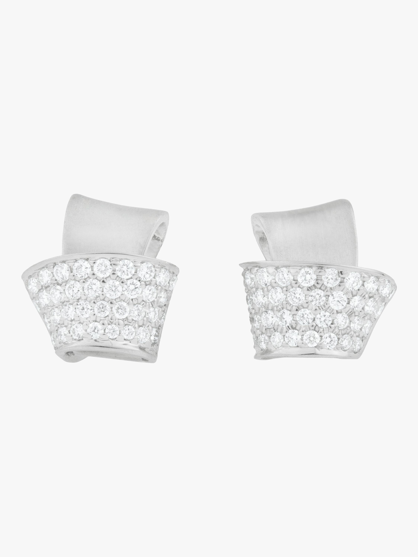 Knot Pavé Diamond Stud Earrings