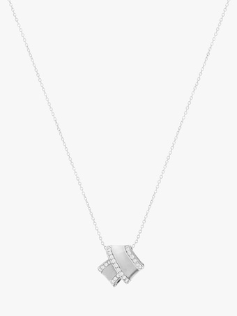 Carelle Knot Diamond Trim Pendant 2