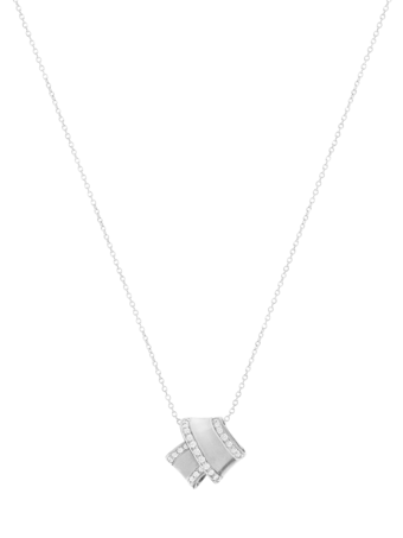 Knot Diamond Trim Pendant