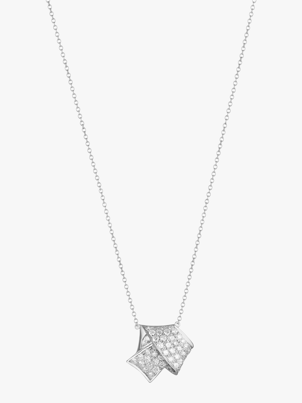 Jumbo Knot Pavé Diamond Pendant
