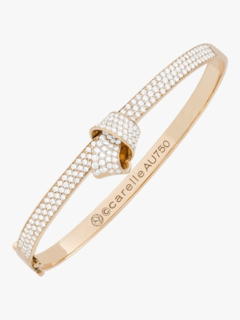Knot Pavé Diamond Bangle