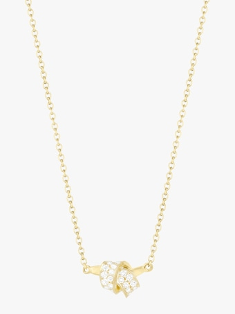 Carelle Mini Knot Pavé Diamond Pendant 2