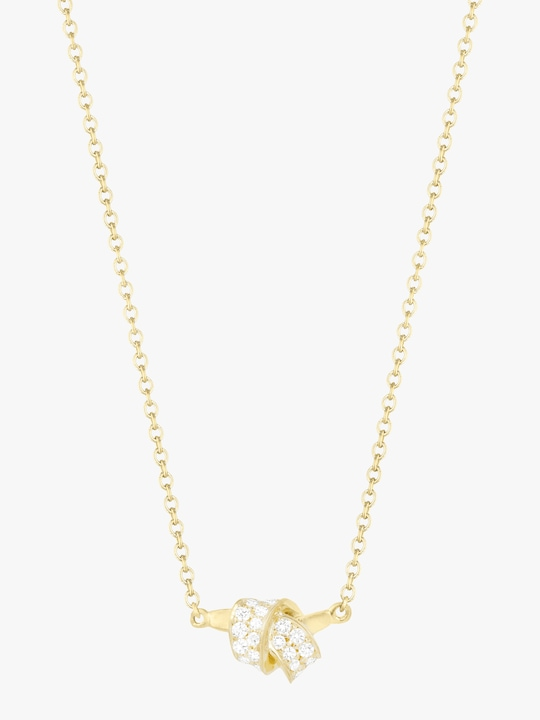 Carelle Mini Knot Pavé Diamond Pendant 0