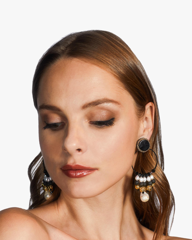 Ranjana Khan Gardenia Clip-On Earrings 1