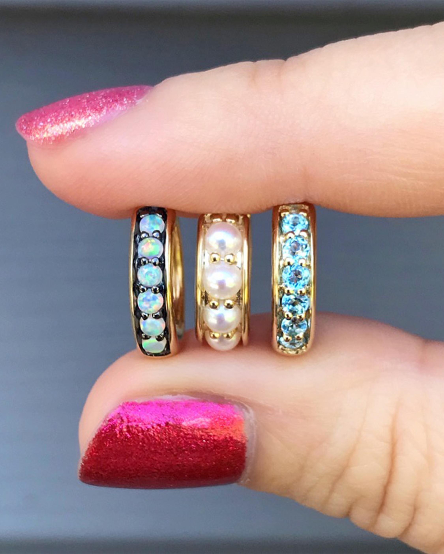 Opal Classic Hoop Earrings