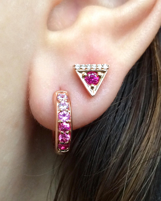 Sapphire Classic Hoop Earrings