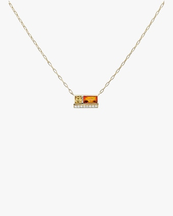Petite Two-Stone Pendant Necklace