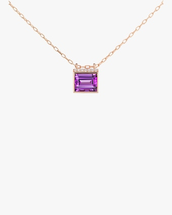 Bold Baguette Pendant Necklace