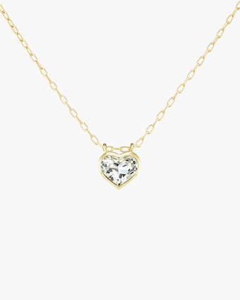 Large Heart Bezel Pendant Necklace
