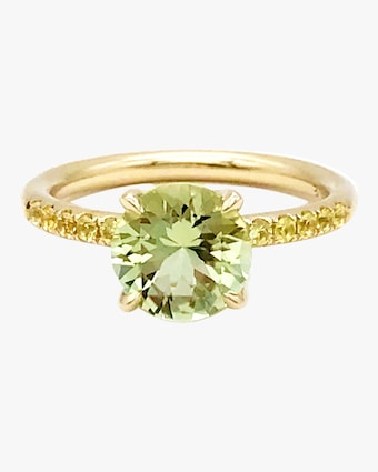 Solitaire Pavé Ring