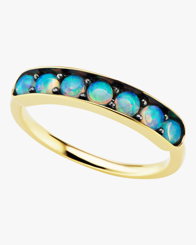 Australian Opal Half Eternity Band