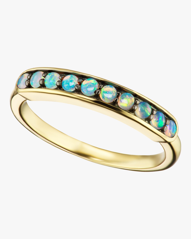 Australian Opal Small Half Eternity Band